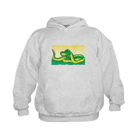 Cute Snake in Grass Kids Hoodie