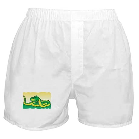 Cute Snake in Grass Boxer Shorts