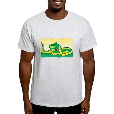Cute Snake in Grass Light T-Shirt