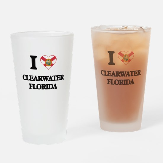 I love Clearwater Florida Drinking Glass