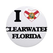I love Clearwater Florida Ornament (Round)