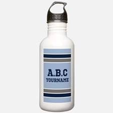 Blue and Gray Jersey S Water Bottle