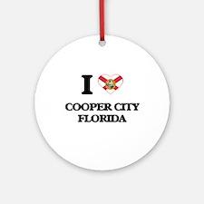 I love Cooper City Florida Ornament (Round)