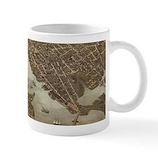 Vintage Map of Norfolk and Portsmouth VA (187 Mugs