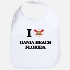 I love Dania Beach Florida Bib