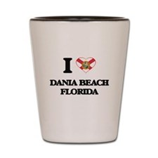 I love Dania Beach Florida Shot Glass