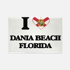 I love Dania Beach Florida Magnets