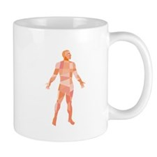 Gross Anatomy Male Isolated Low Polygon Mugs
