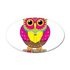 Owl Love Books Wall Decal