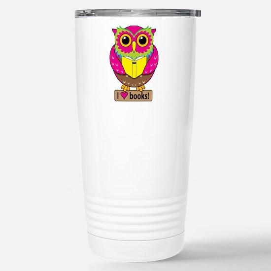 Owl Love Books Travel Mug