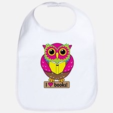 Owl Love Books Bib