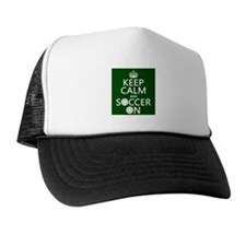 Keep Calm and Soccer On Hat