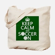 Keep Calm and Soccer On Tote Bag