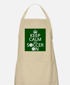 Keep Calm and Soccer On Apron