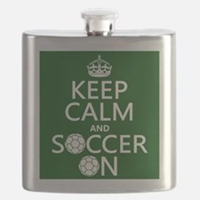 Keep Calm and Soccer On Flask