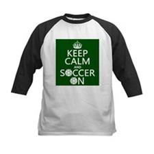Keep Calm and Soccer On Baseball Jersey