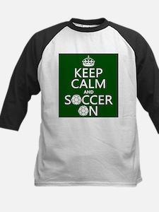 Keep Calm and Soccer On Baseball Jersey