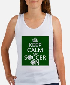 Keep Calm and Soccer On Tank Top