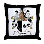 Sydow Family Crest Throw Pillow