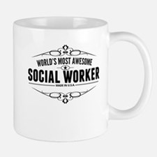 Worlds Most Awesome Social Worker Mugs