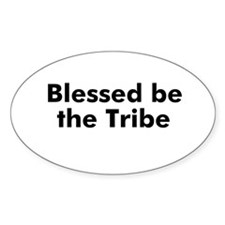 Blessed be the Tribe Oval Decal