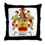 Suter Family Crest Throw Pillow