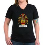 Suter Family Crest Women's V-Neck Dark T-Shirt