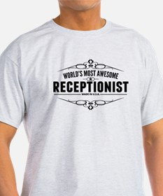 Worlds Most Awesome Receptionist T-Shirt