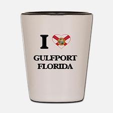 I love Gulfport Florida Shot Glass