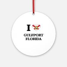I love Gulfport Florida Ornament (Round)