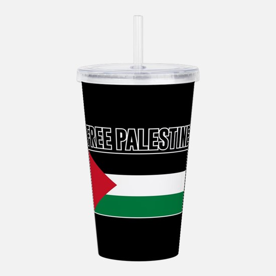 Free Palestine Acrylic Double-wall Tumbler