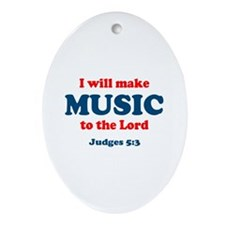 Judges 5:3 Oval Ornament