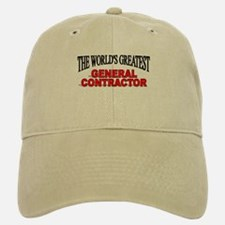 """The World's Greatest General Contractor"" Baseball Baseball Cap"