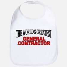"""The World's Greatest General Contractor"" Bib"