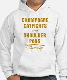 Dynasty Champagne Catfights Shoulder Pads Hoodie
