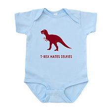 T-rex hates selfies Infant Bodysuit