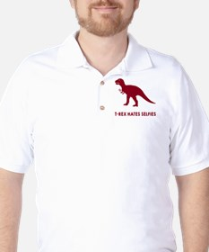 T-rex hates selfies Golf Shirt