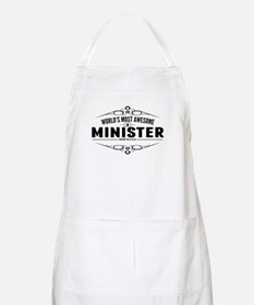 Worlds Most Awesome Minister Apron