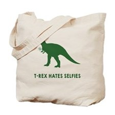 T-rex hates selfies Tote Bag