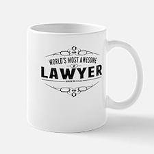 Worlds Most Awesome Lawyer Mugs