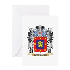 Benedicte Coat of Arms - Family Cre Greeting Cards