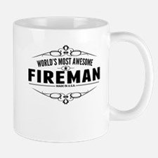 Worlds Most Awesome Fireman Mugs