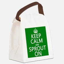 Keep Calm and Sprout On Canvas Lunch Bag
