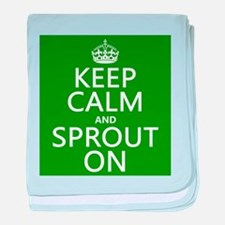 Keep Calm and Sprout On baby blanket