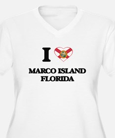 I love Marco Island Florida Plus Size T-Shirt