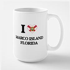 I love Marco Island Florida Mugs