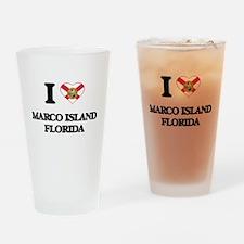 I love Marco Island Florida Drinking Glass