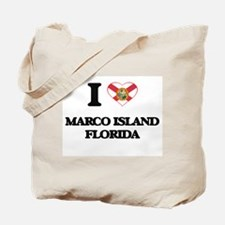 I love Marco Island Florida Tote Bag