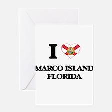 I love Marco Island Florida Greeting Cards