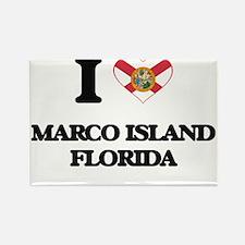I love Marco Island Florida Magnets
